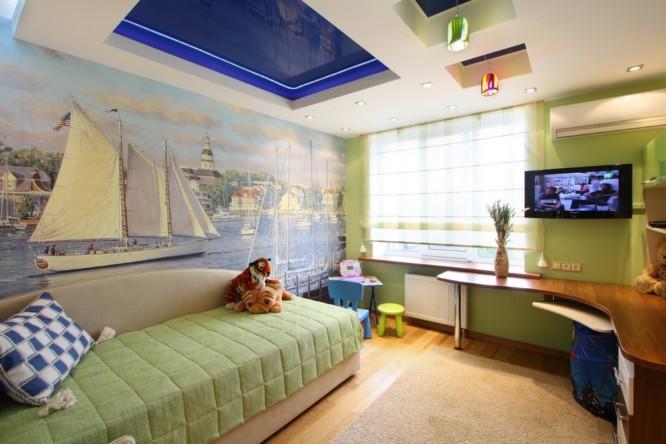 Двойной потолок с плитами гипсокартона