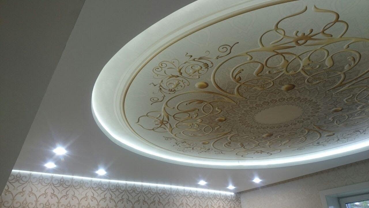 Натяжные потолки с орнаментом