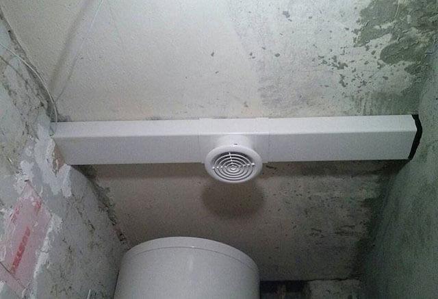 Вытяжка в натяжном потолке
