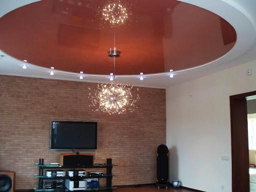 Натяжной потолок с кругом