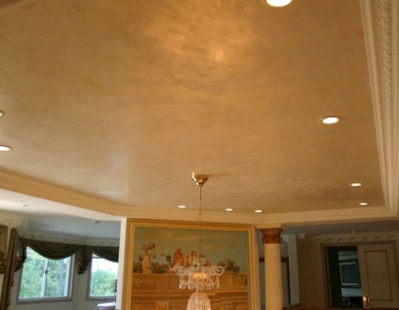 Натяжной потолок «Венецианская штукатурка»