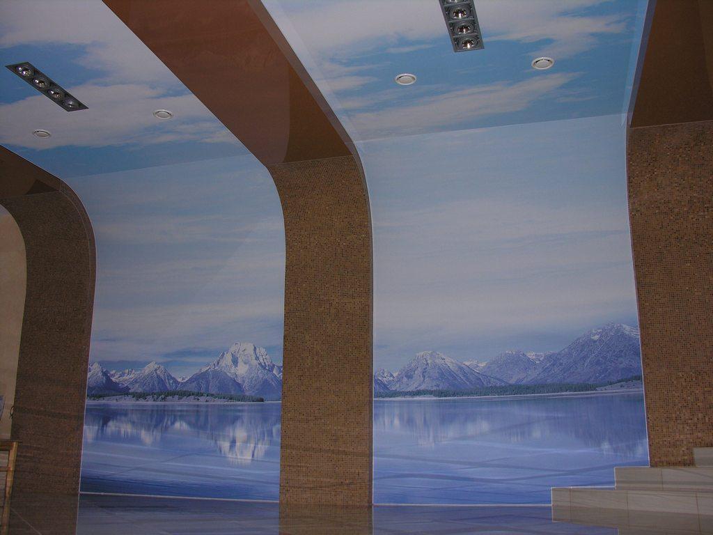 Натяжные потолки - тканевые