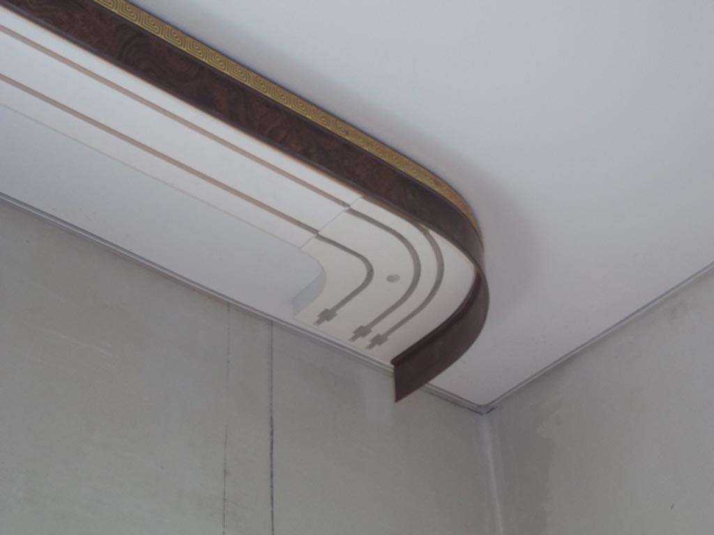 Гардина под натяжной потолок