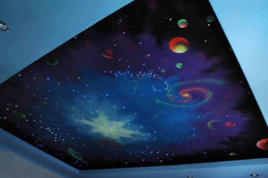 Потолок «звездное небо» - с мерцанием звезд