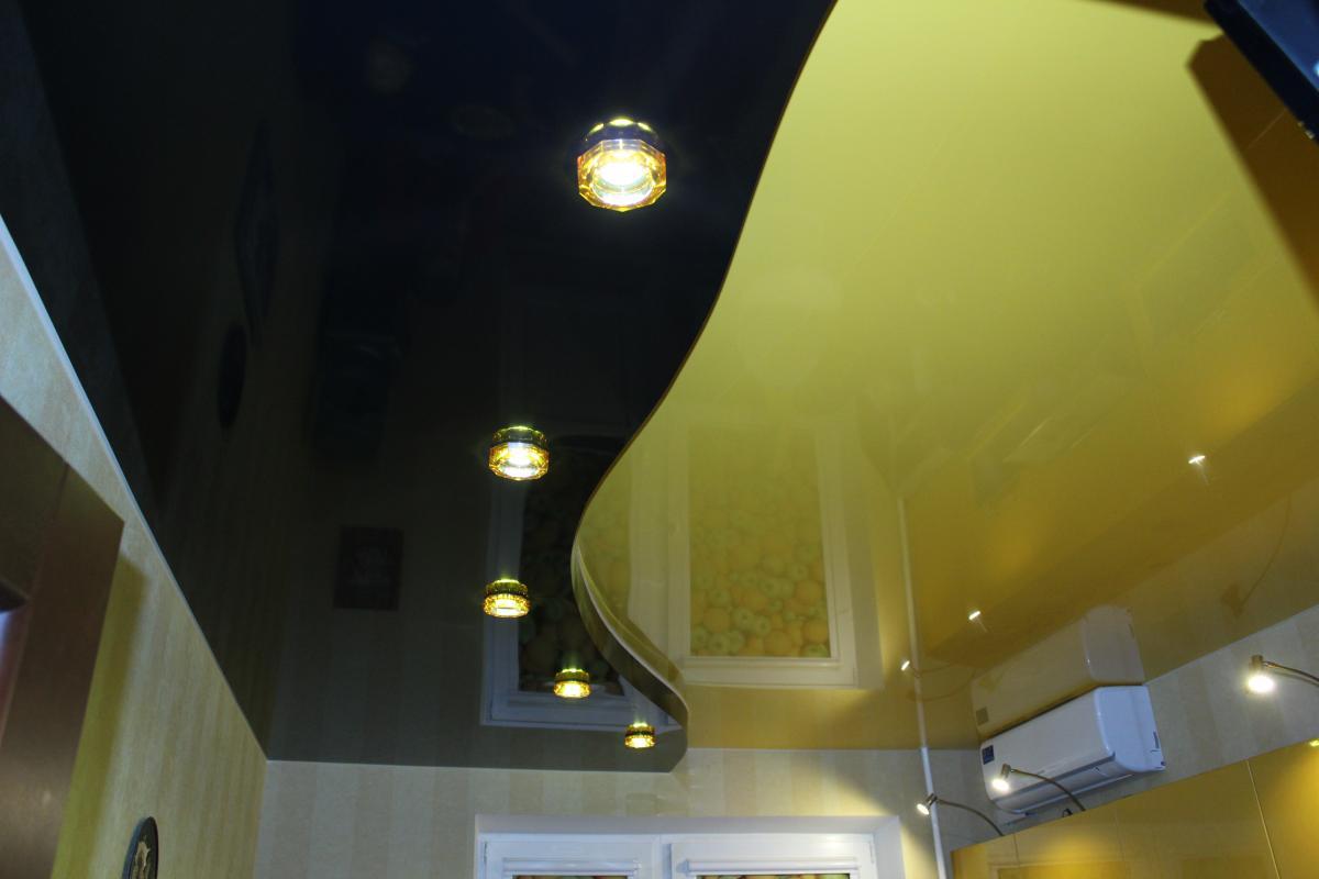 Двухуровневые натяжные потолки в Москве