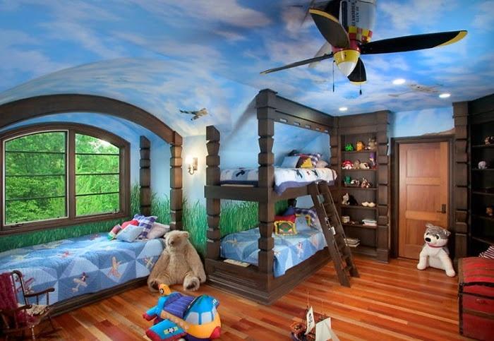 в детской потолок с фотопечатью